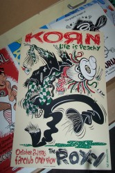 Korn unframed, signed by the artist