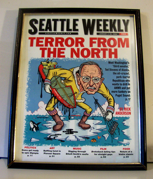 Seattle Weekly, featuring Ted Stevens